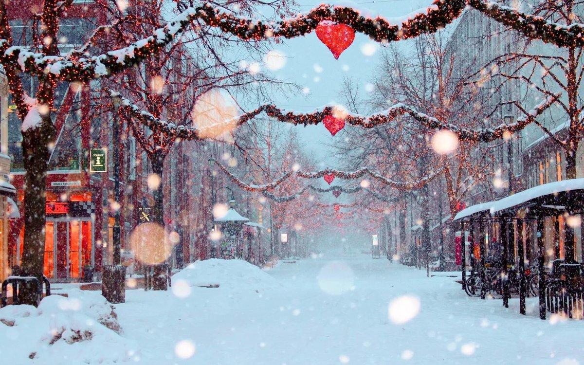 Новогодние картинки снегопад