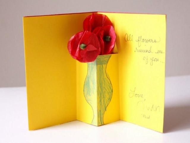 Красивых цветов, прикольные и легкие открытки на 8 марта маме своими руками