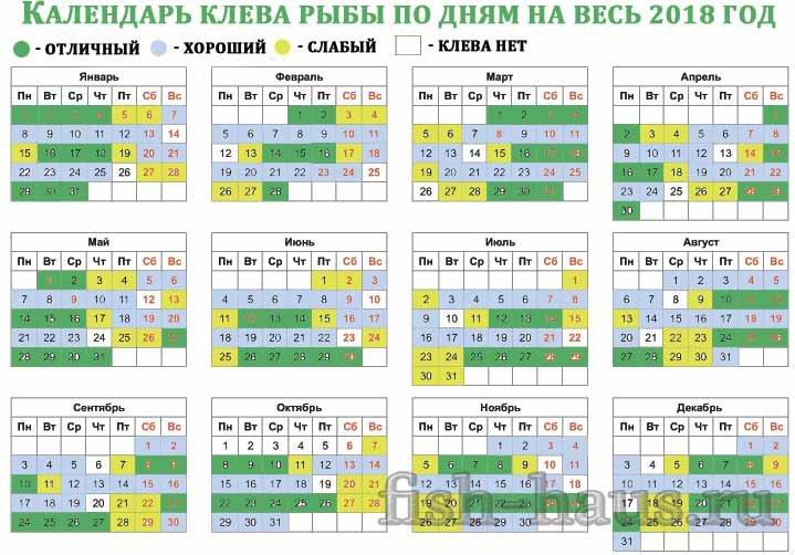 Календарь рыболова на эту неделю в кирове