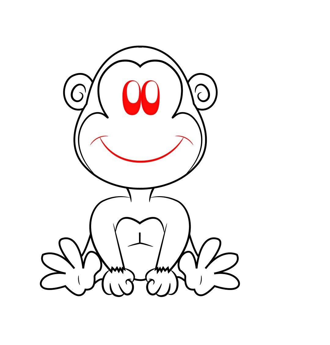 легкая картинка обезьянки этом посте