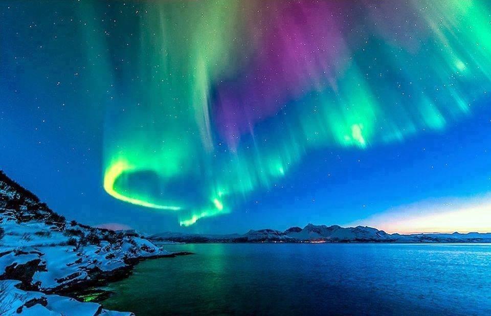 Творческие, картинки сияние в небе