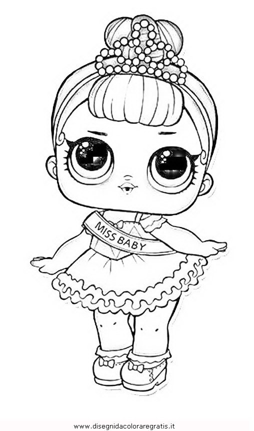 Lol Surprise Coloring Pages Black And White Pictures To Pin