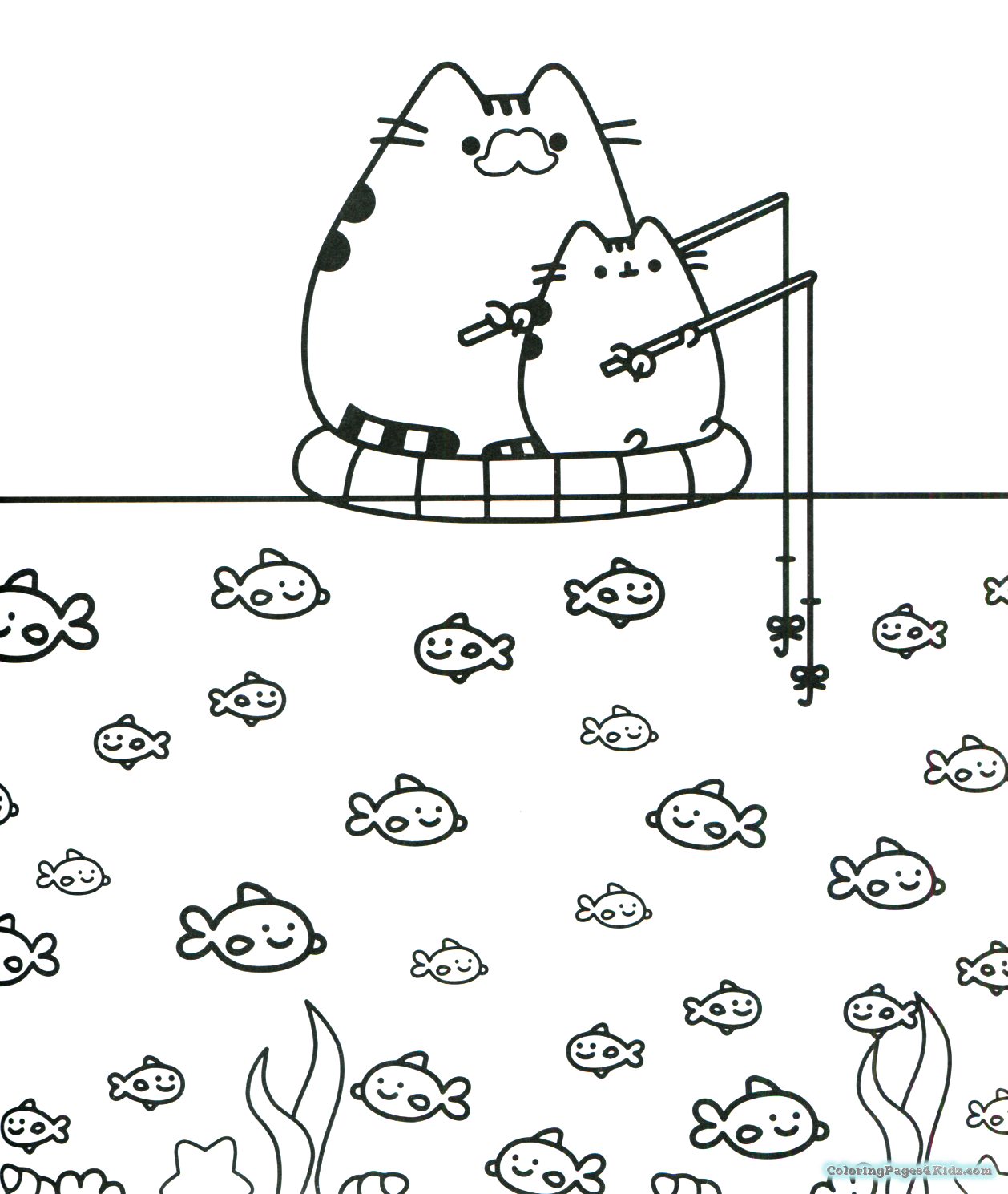 coloring pages of pusheen the cat best ideas for printable a card