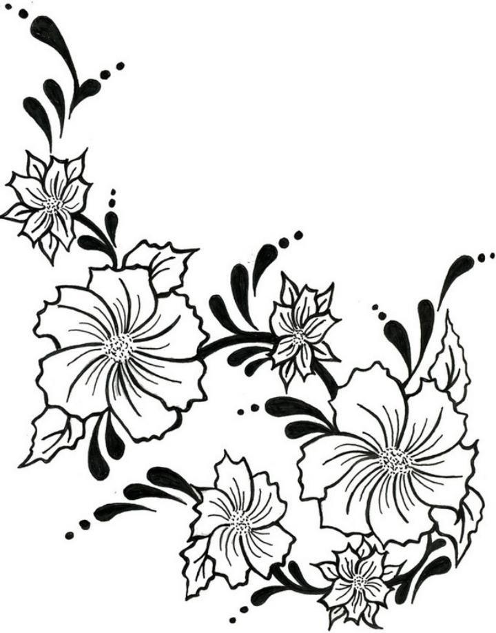 День рождения, картинки черно белых цветов