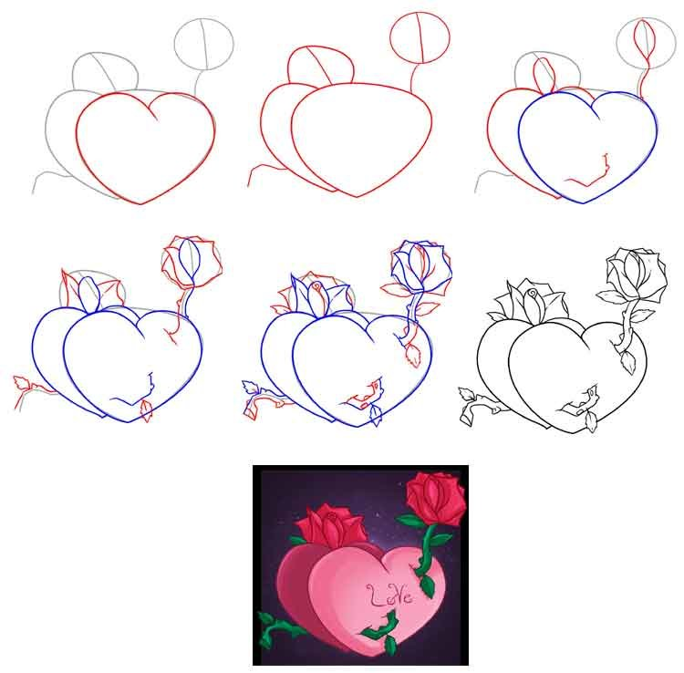 Нарисовать открытку любую