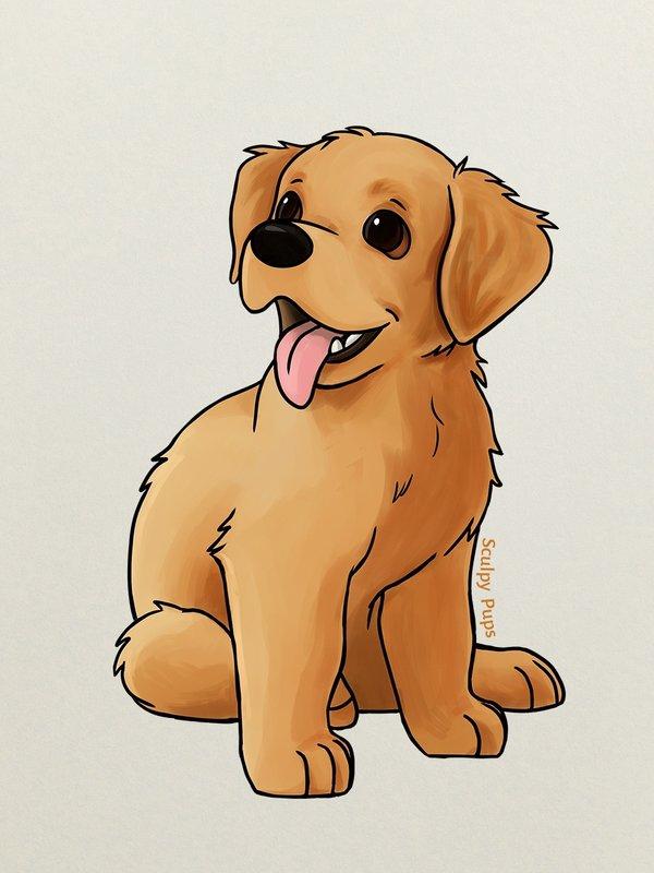 Рисовать собачки картинки