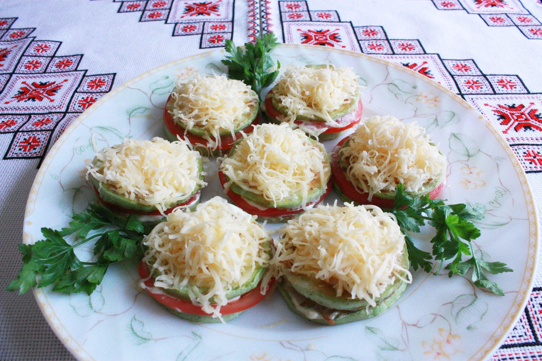 закуска из кабачков и помидор