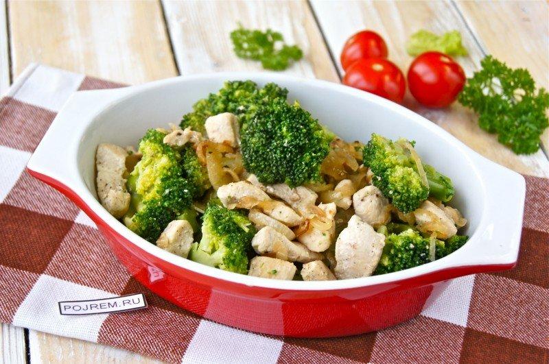 брокколи и куриная грудка для похудения