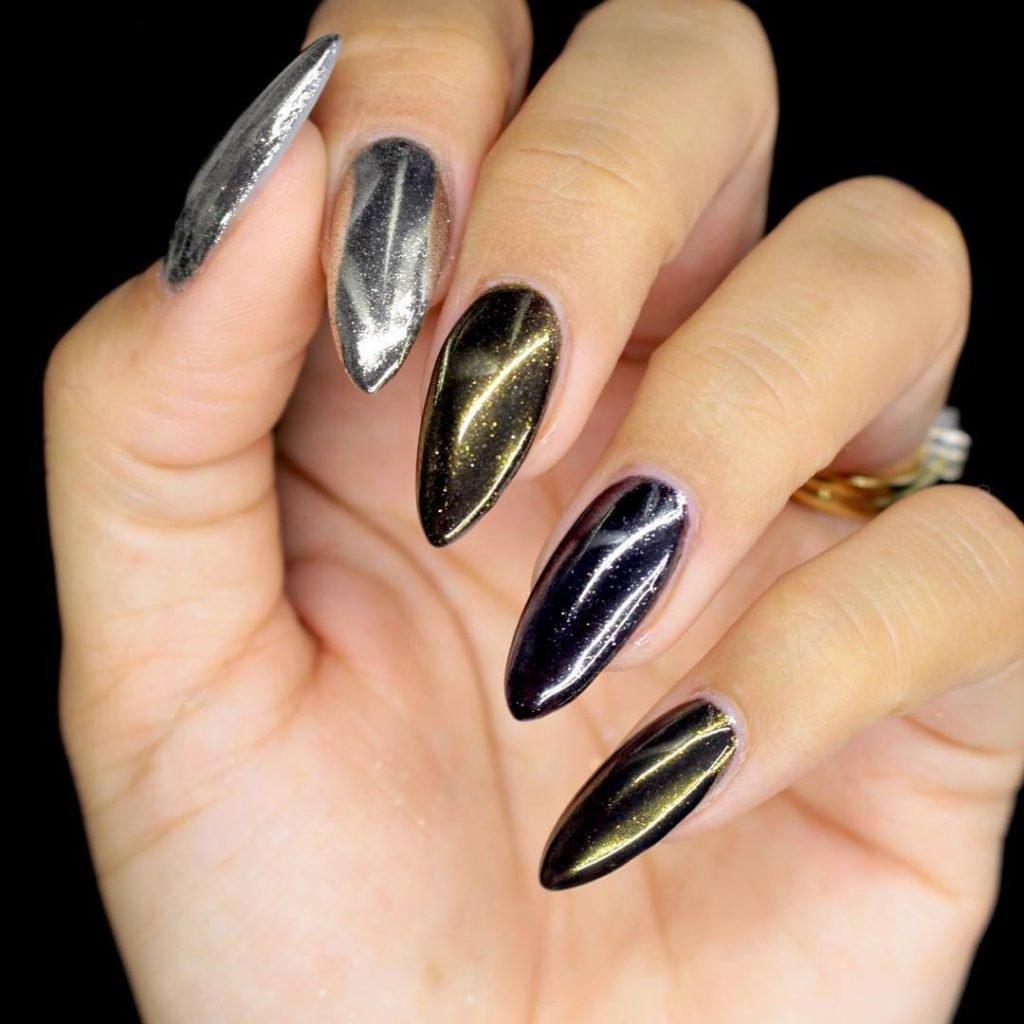 дизайн ногтей черный с втиркой - Тюменский издательский дом