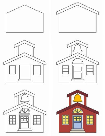 Дом рисунок схема