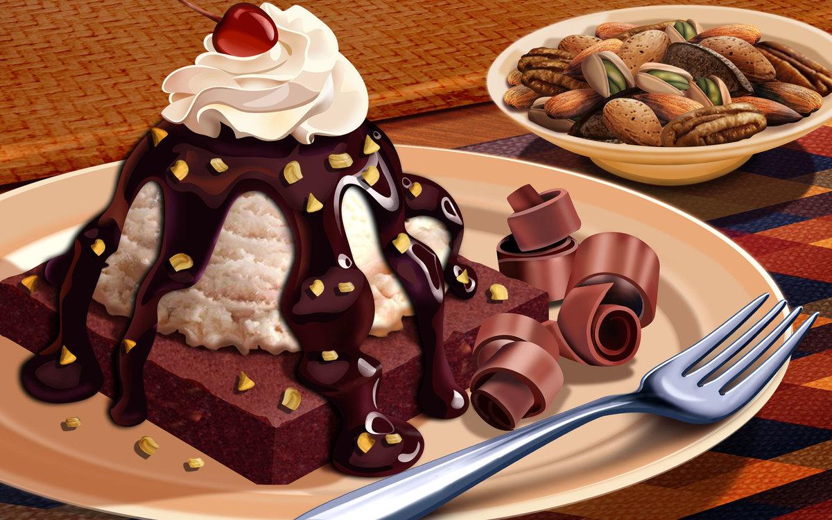смешные картинки с десертами слабее