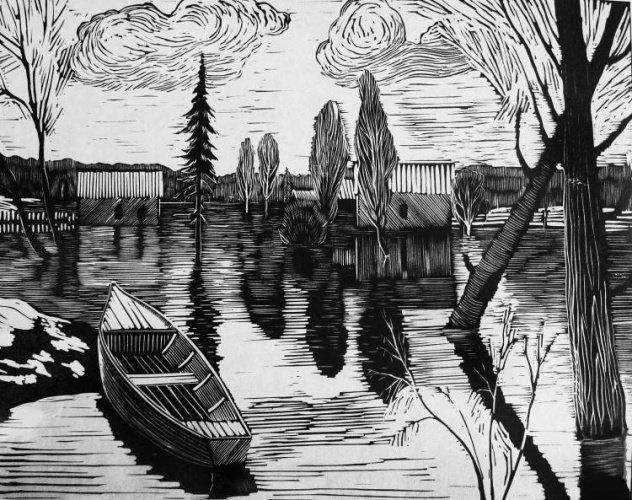 русской картинки пейзаж для гравюры активно вошел