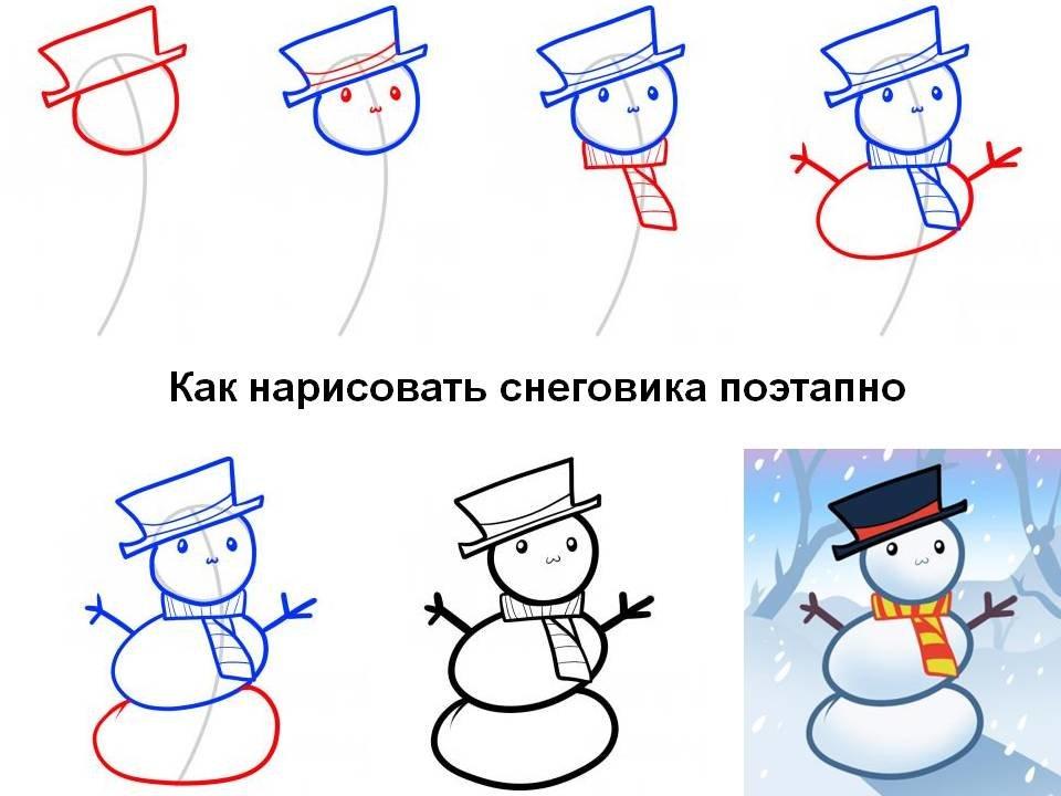 Поэтапно нарисовать новогодние открытки