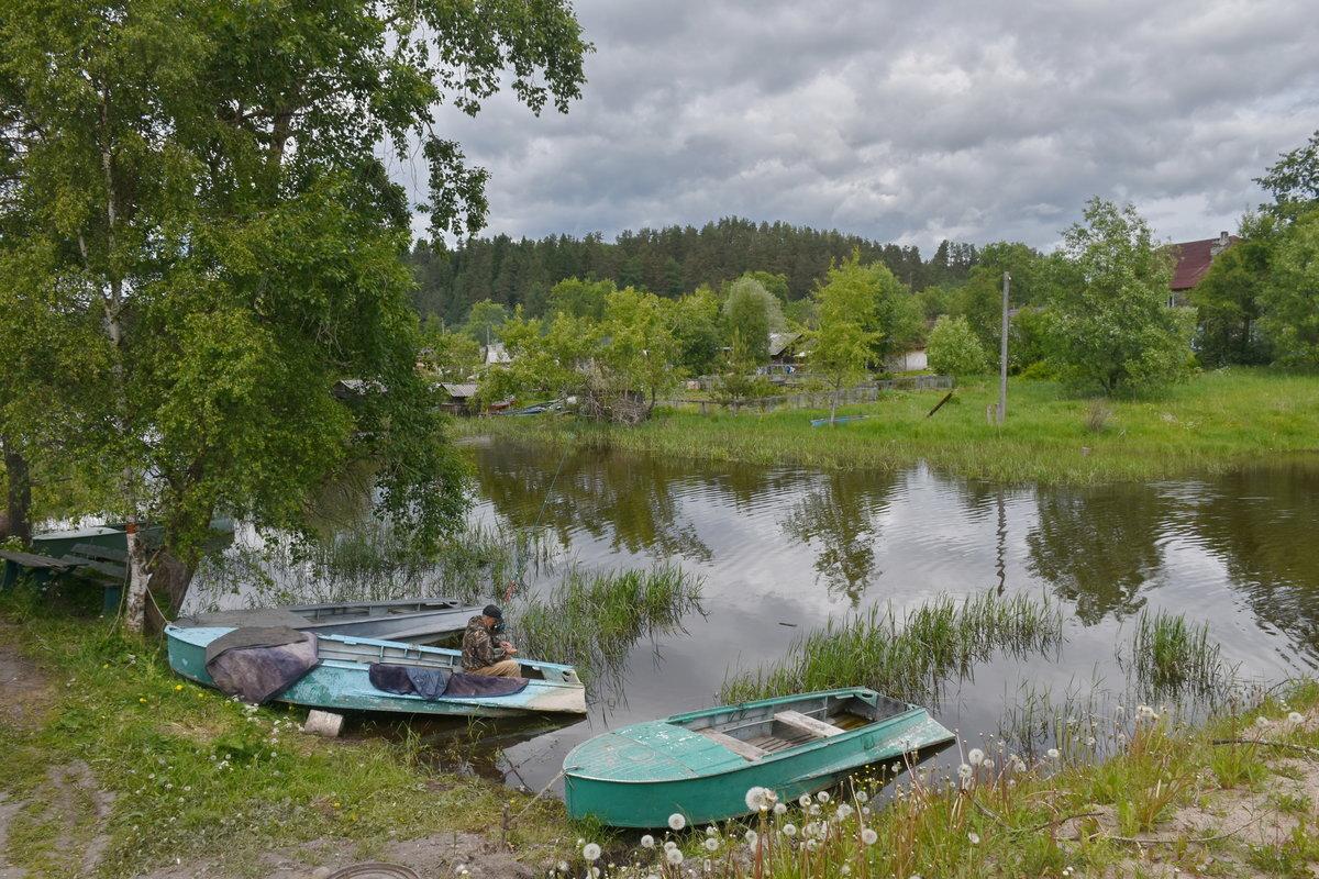 На реке в Карелии