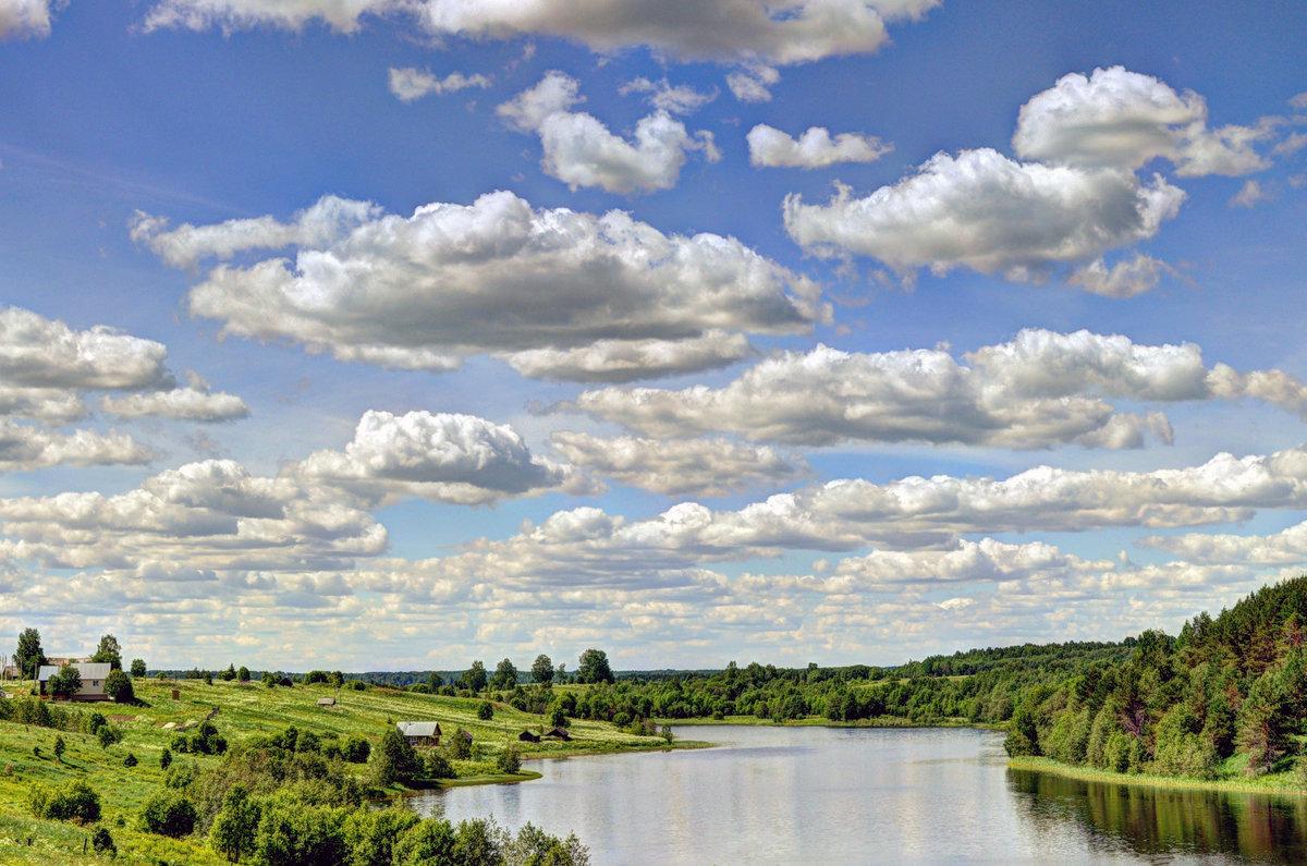 Картинки деревни облака