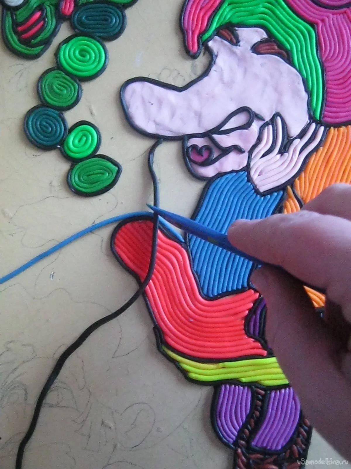 Рисование пластилином картинки мастер класс