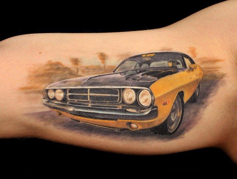 картинки татуировок с машинами меня памяти