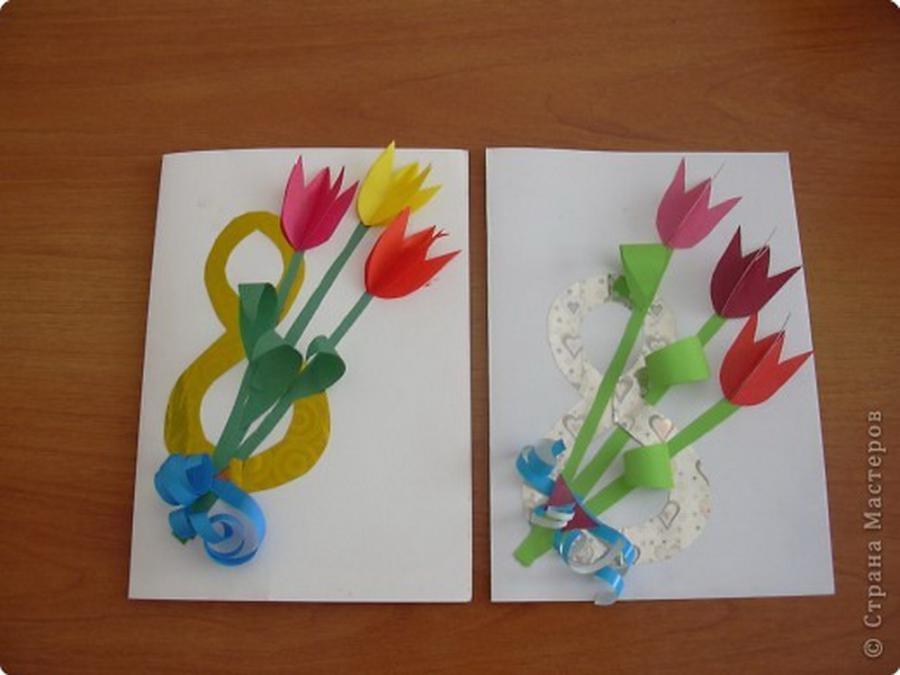 Рисовать открытки, открытки на 8 марта для подготовительной группы