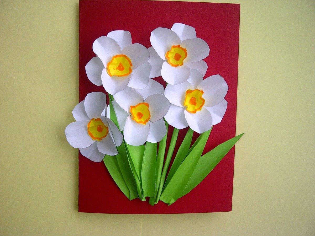 Объемные тюльпаны на открытку