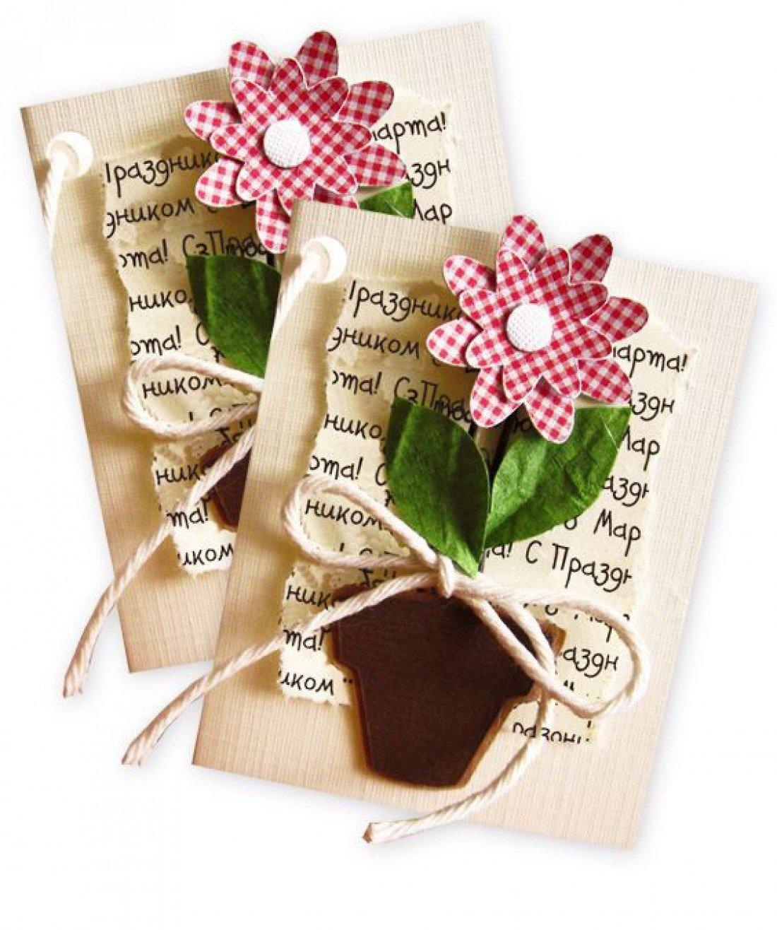 Как оформить открытку с 8 марта внутри, открытка