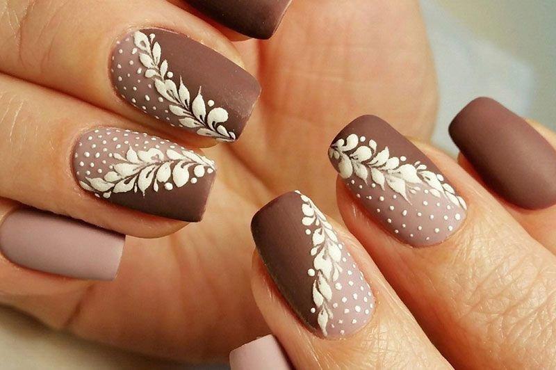 Картинки шоколадный цвет на ногтях