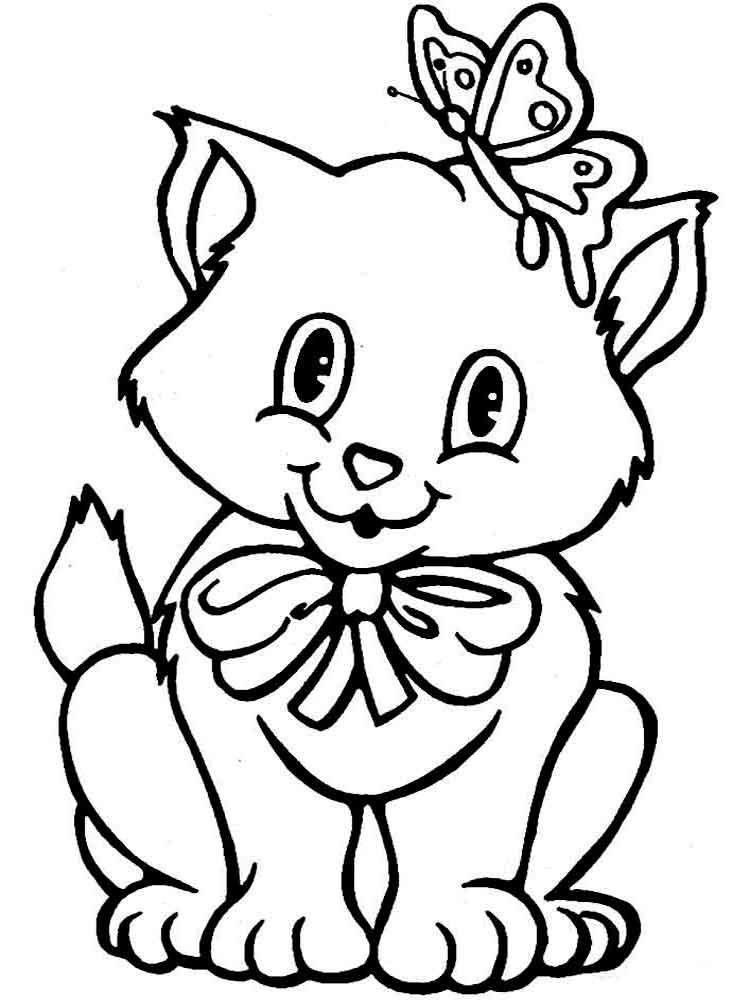 Анимашки, картинки котята черно белые раскраски