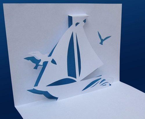 Открытки, открытка в виде корабля