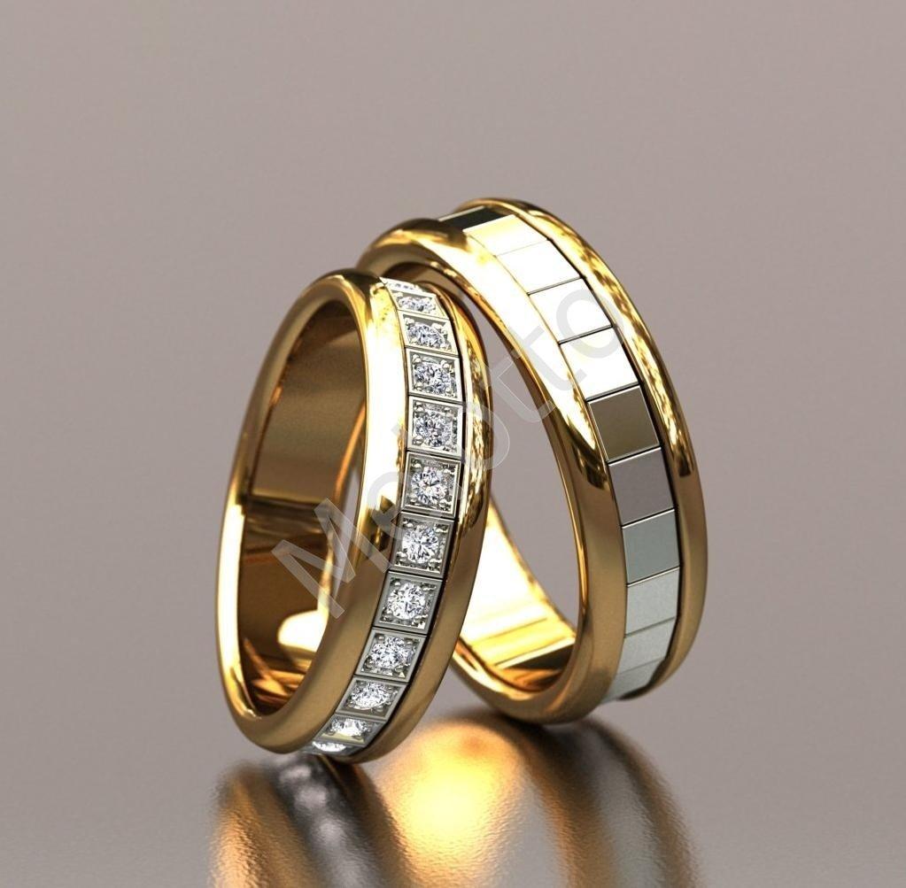 Красивые обручальные кольца из белого золота фото