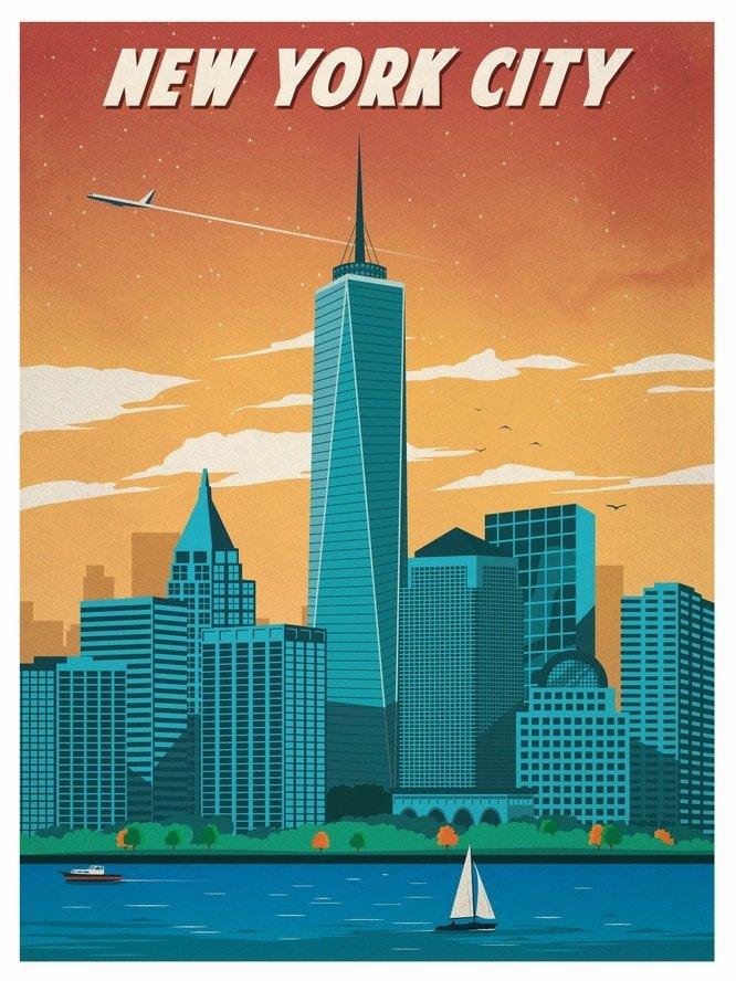 Постер о нью-йоркер