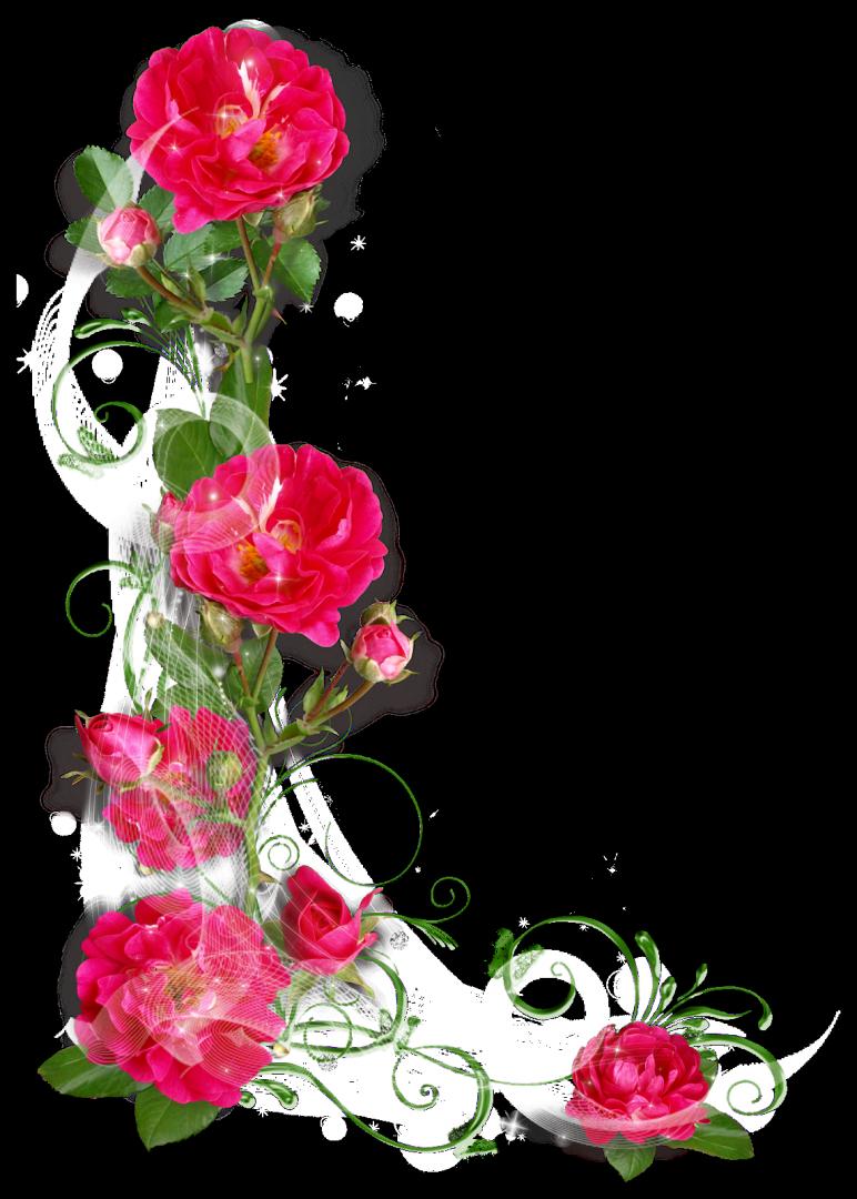 Годовщину свадьбы, угловые цветы на открытку