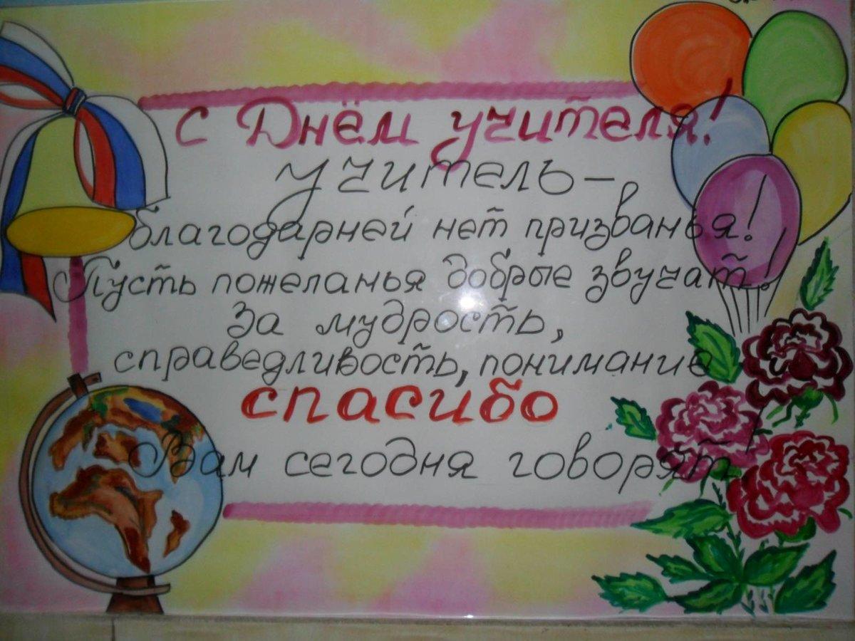 Рисунки открытки своими руками ко дню учителя