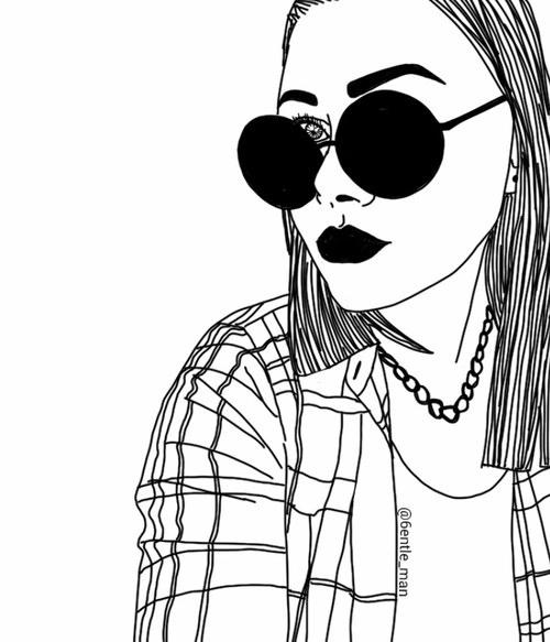 Картинки для срисовки для подруги черно белые