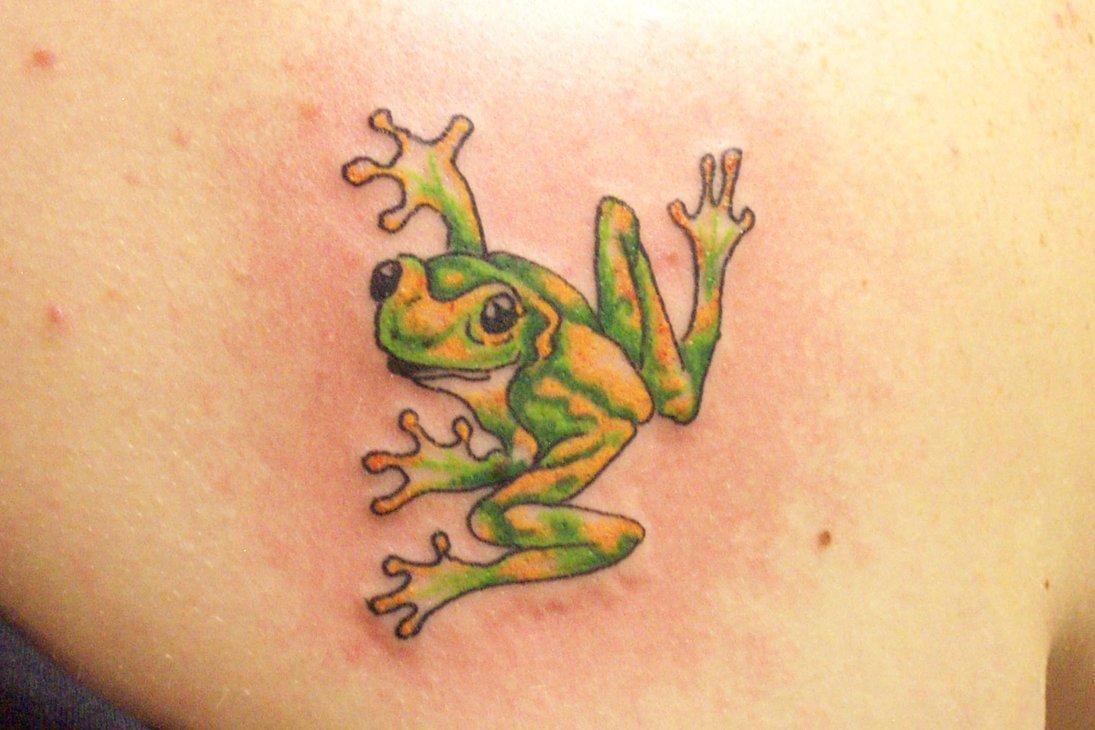 Тату зеленая жаба значение фото
