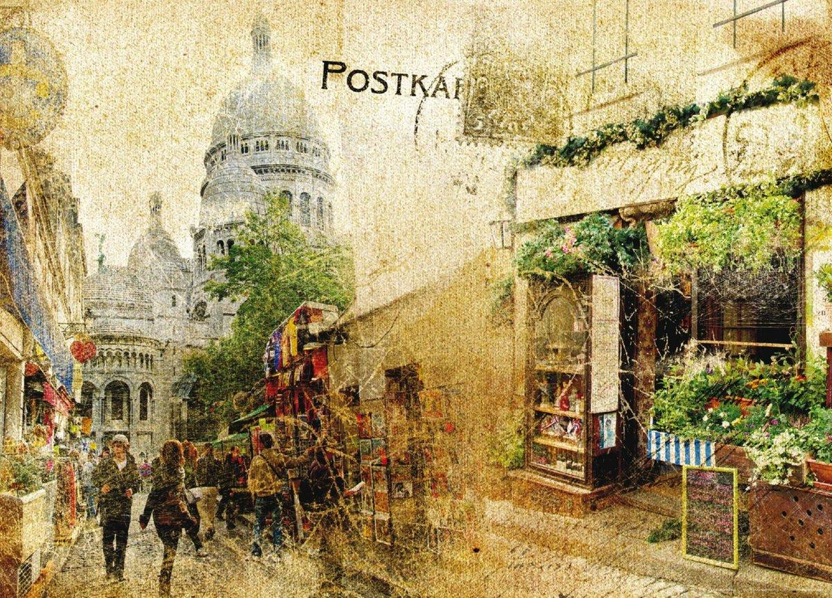 Вот зима, города ретро открытки