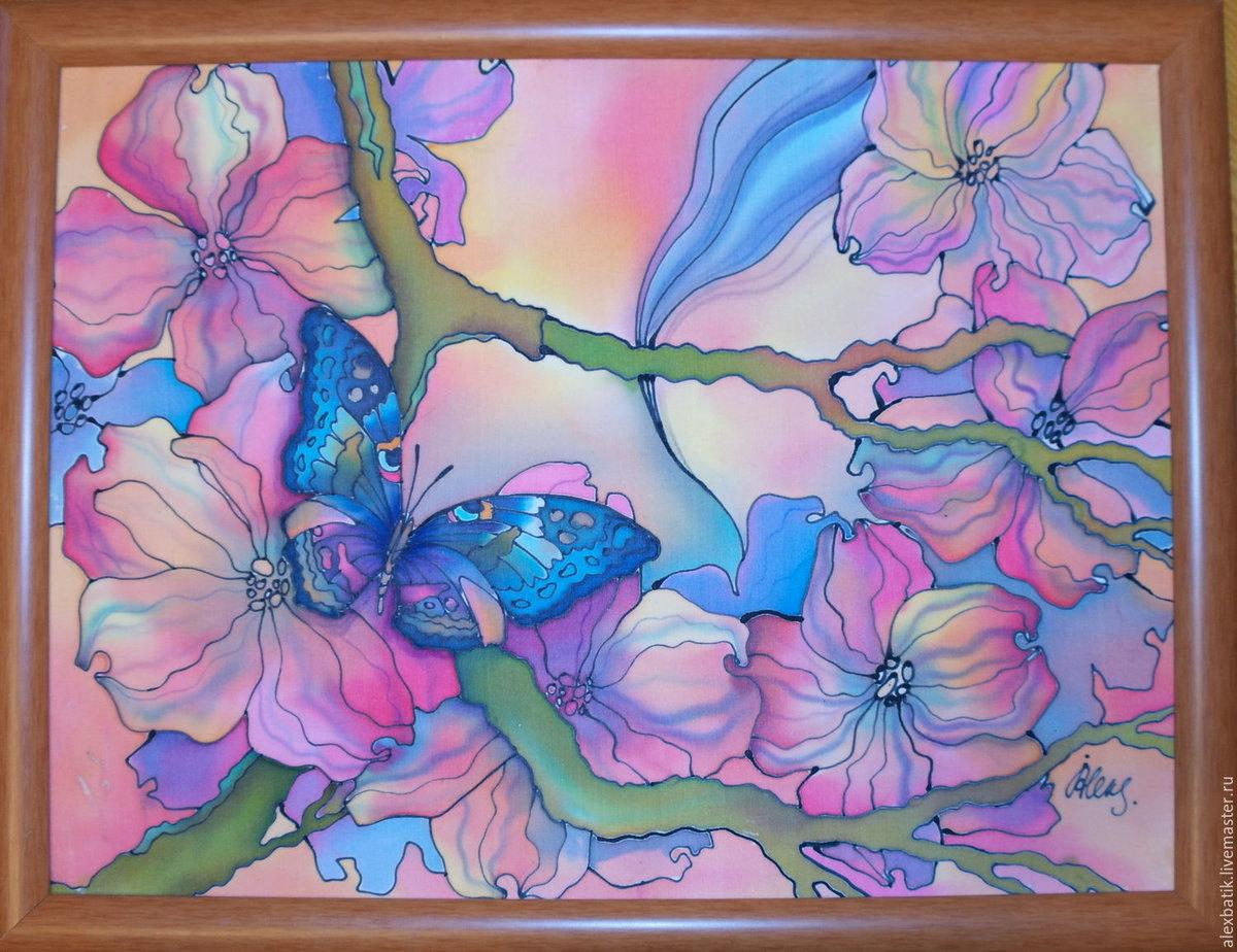 коем случае рисунок батик цветы красивое
