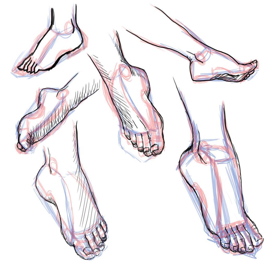 Картинки как рисовать ноги