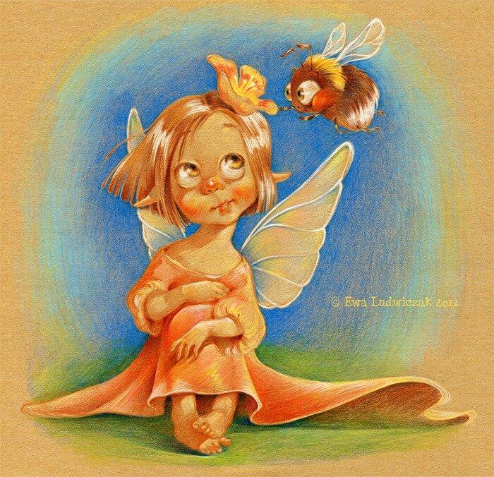 Картинки фей и ангелочков