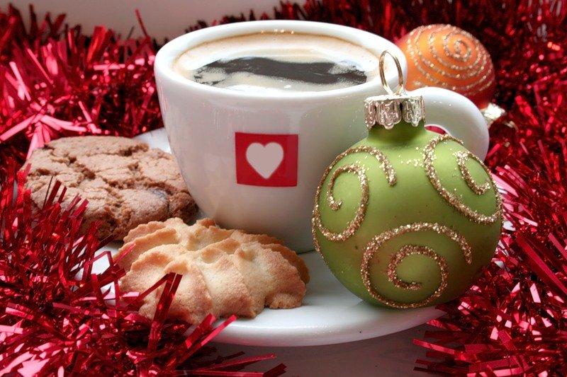 открытки новогоднего кофе работаем