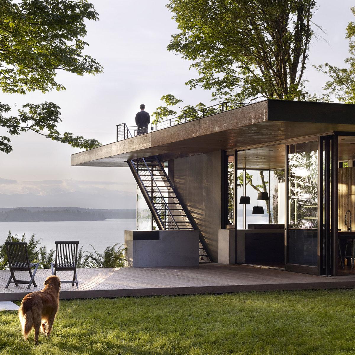 проект дома с террасой на крыше картинки сложно