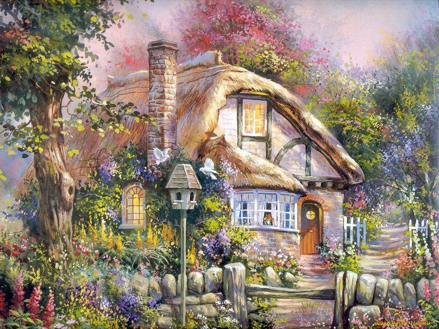 Открытка сказочный домик