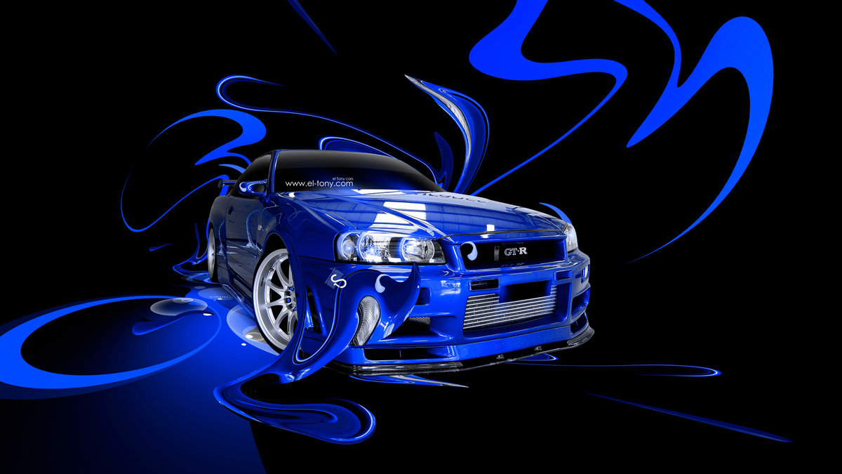Nissan Skyline GTR R34 Fantasy Plastic Abstract Car