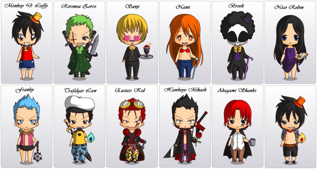 персонажи из ван пис на английском