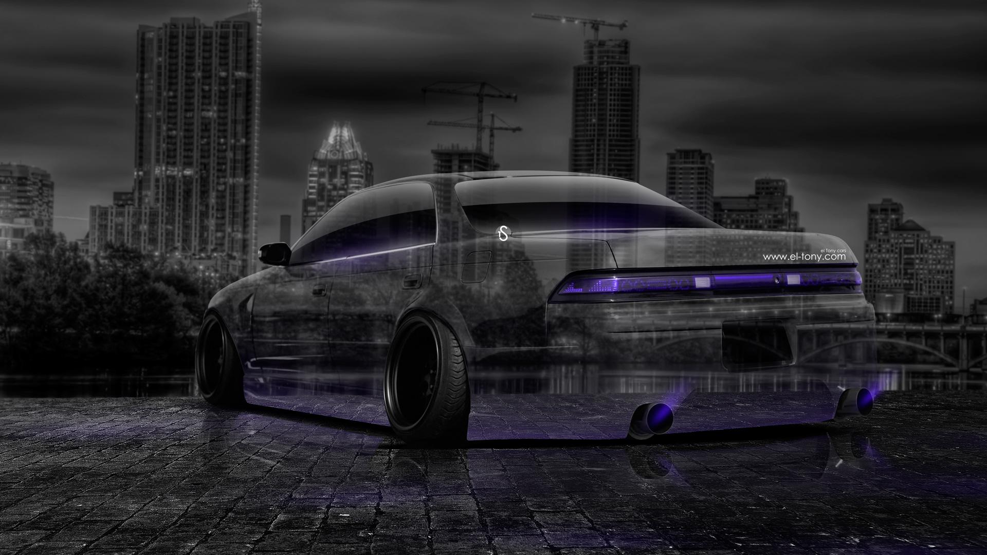 Toyota Mark2 JZX90 JDM Crystal City Car 2014 Violet Neon HD ...