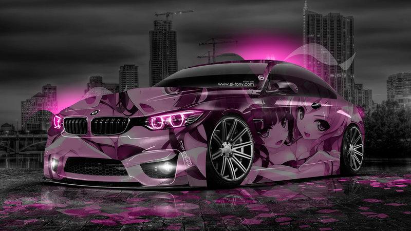 Perfect BMW M4 Anime Aerography Girl City Car 2014