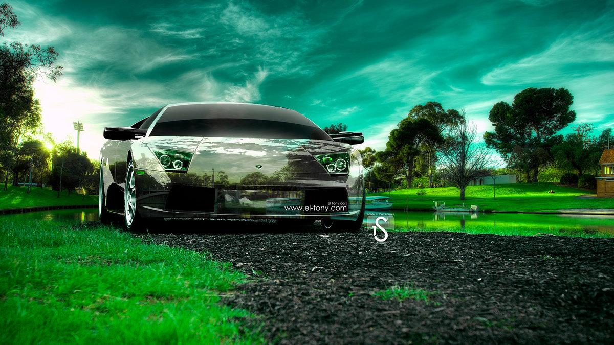 Perfect Lamborghini Murcielago Crystal Rivel Nature Car 2014 HD