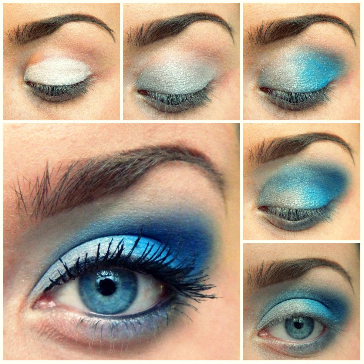 Голубой макияж для голубых глаз картинки