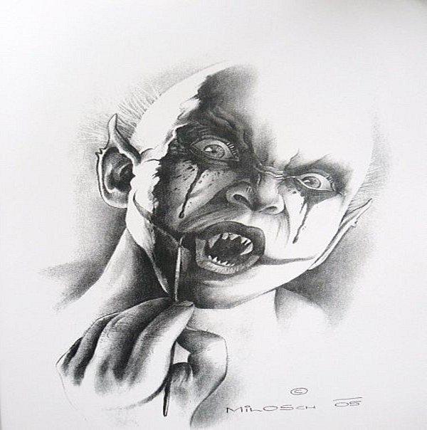 картинки зла карандашом