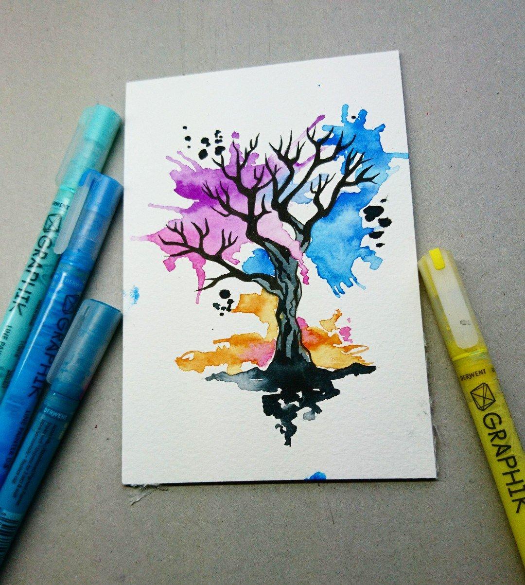 Рисунки фломастером для начинающих