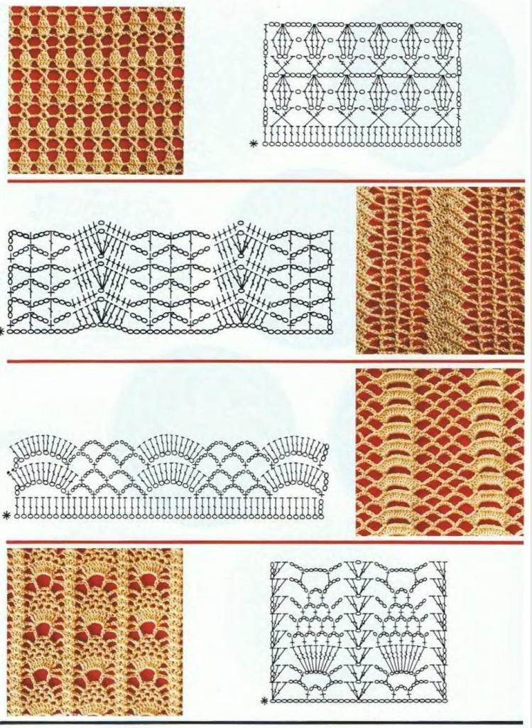 Вязание картинки крючком схемы