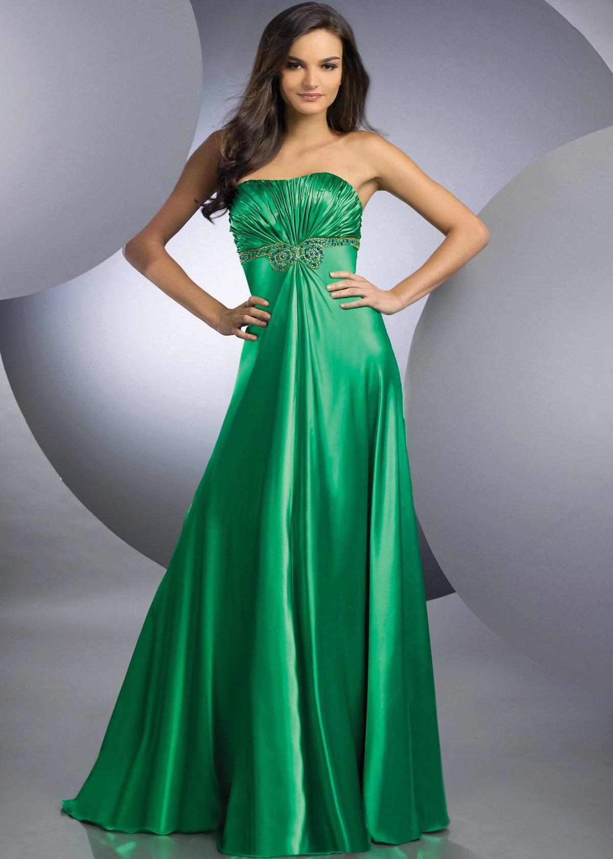 Картинки зеленые платья в пол фото